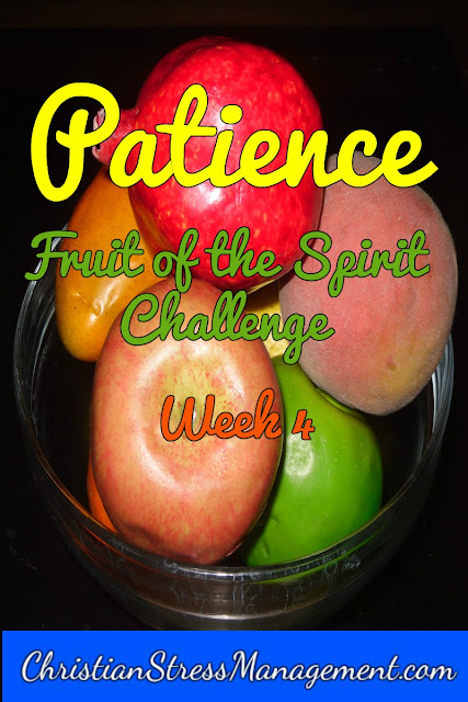 Patience Week Fruit of the Spirit Challenge