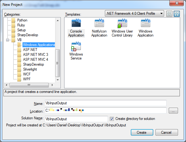 Programmer's Ranch: VB  NET Basics: Input and Output