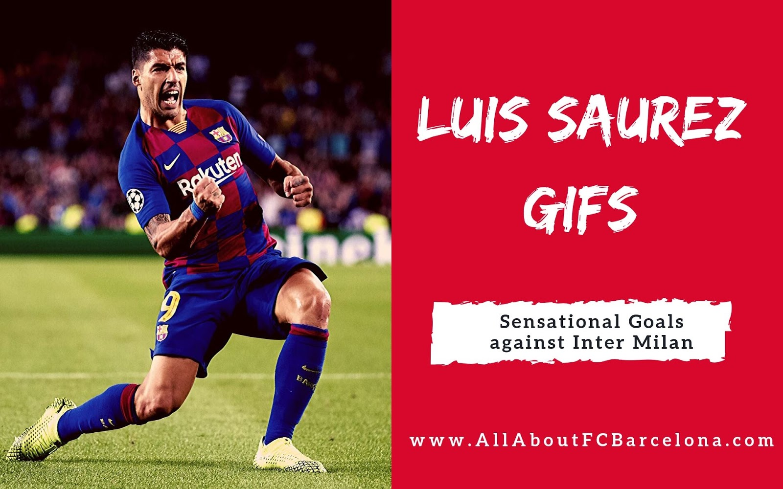 Sensational Luis Saurez Goals against Inter Milan in GIF Photos