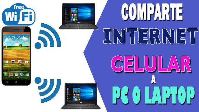 ¿Cómo compartir internet Wifi del celular a la pc o laptop?
