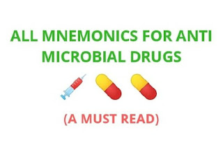 All Mnemonics for anti microbial drugs