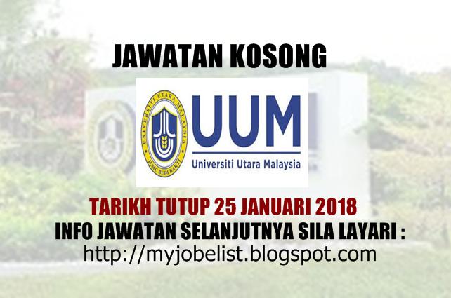 Jawatan Kosong Universiti Utara Malaysia (UUM) Januari 2018