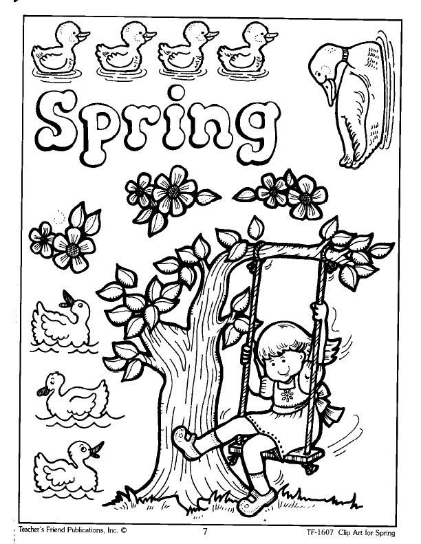 Fichas de Ingls para nios: Fichas Spring