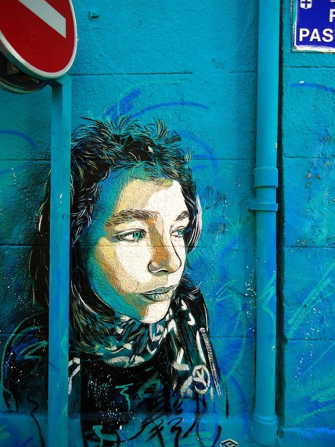 Уличное искусство Кристиана Гуеми (Christian Guémy aka C215) 13