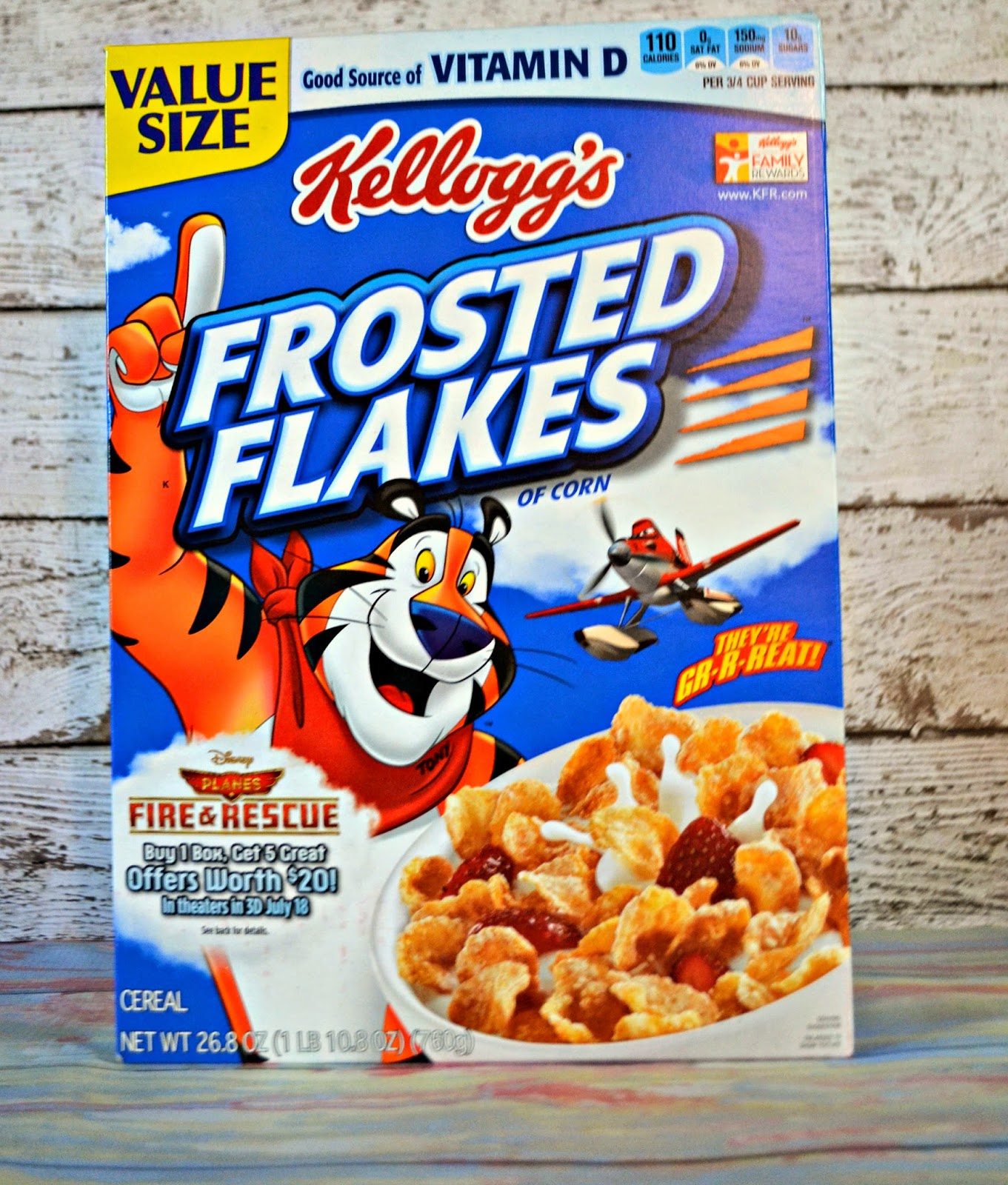 #GoodNightSnack With Kellogg's Frosted Flakes, Fruit And