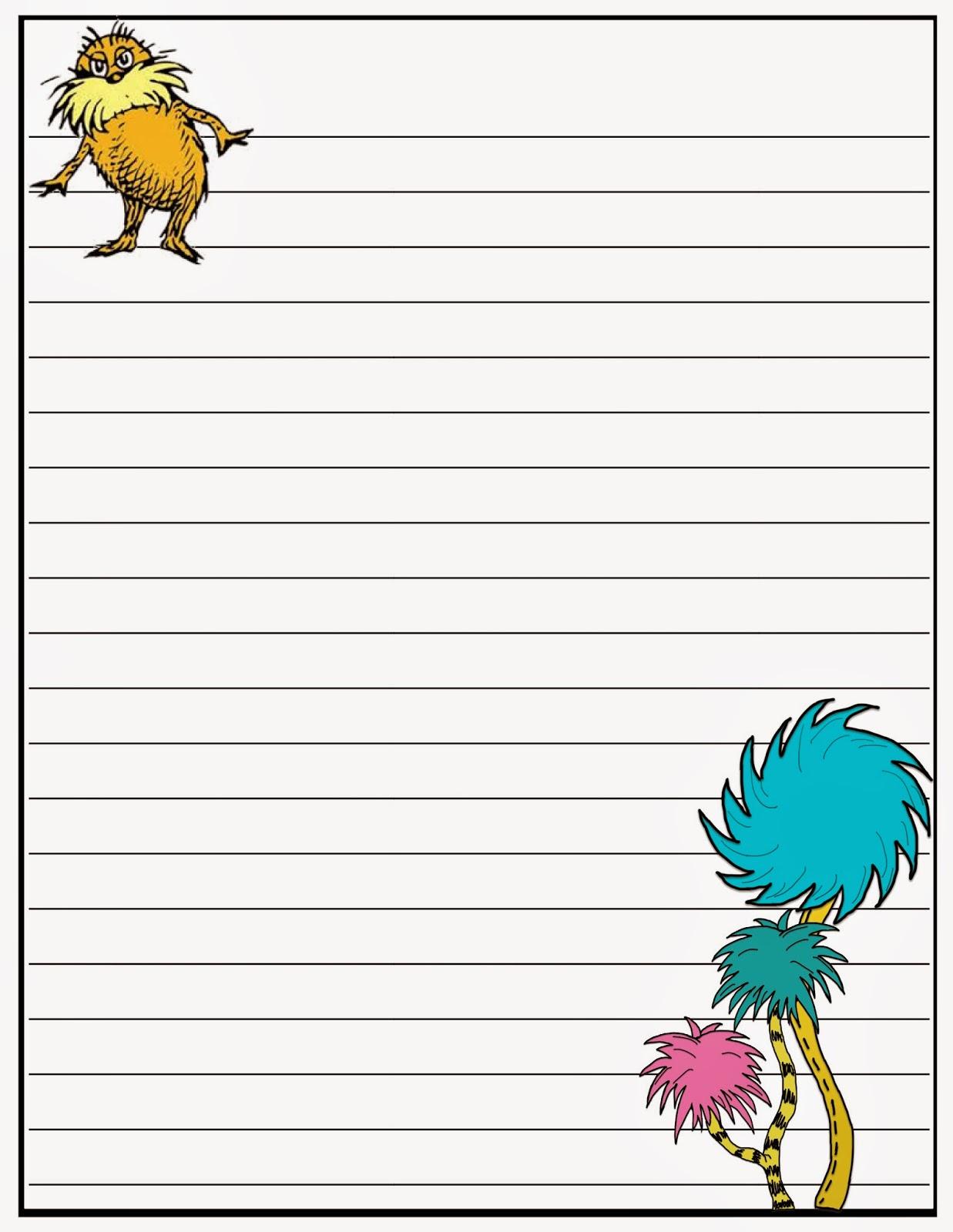 Scrap N Teach Dr Seuss Writing Papers Free