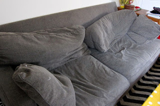 old tired sofa cushions need new stuffing