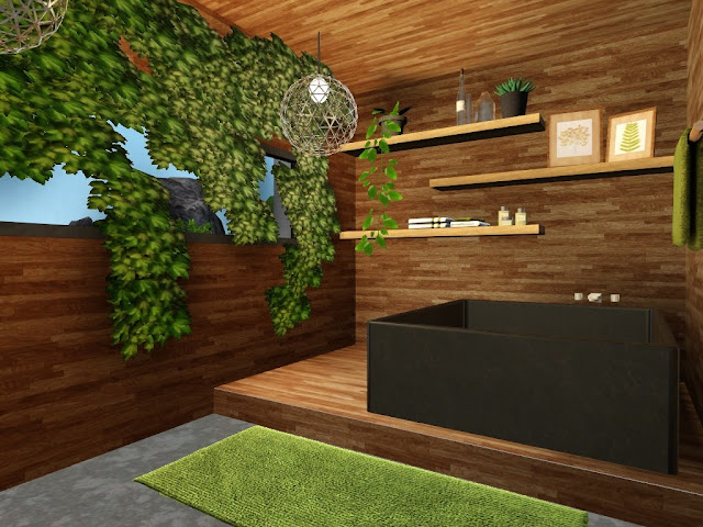 salle de bain exotique sims 3