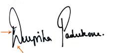 Handwritingandaim.blogspot.in: Deepika Padukone Signature