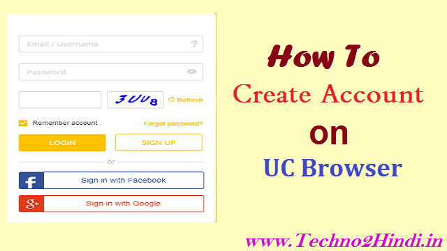 How to create an account in UC Browser