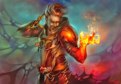 Fire Elf Fantasy Art