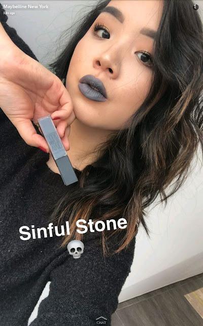 maybelline new vivid matte liquid lipstick swatches 13 sindul stone lip swatch