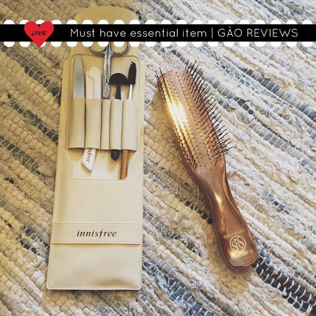 gào, vũ phương thanh, feedback mỹ phẩm, innisfree, bộ cắt tỉa lông mày, phản hồi mỹ phẩm, review mỹ phẩm, lược thần ký,