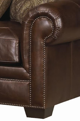 leather couch at baer's furniture