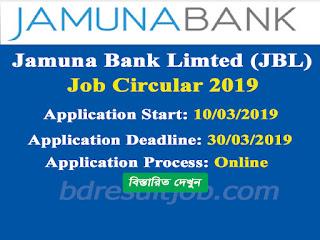 Jamuna Bank Limted Job Circular 2019