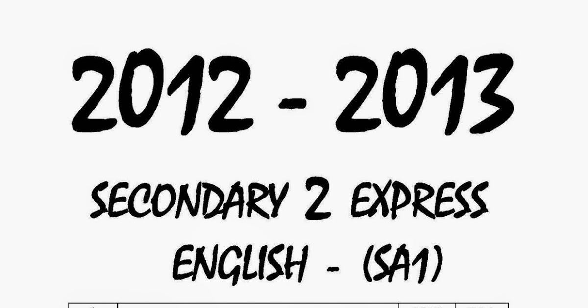Top Primary School Exam Paper : Secondary 2