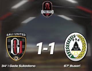 Bali United vs PSS Sleman Imbang 1-1