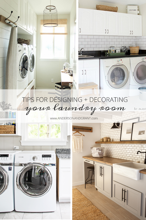 Tips for Designing and Decorating a Beautiful and Functional Laundry Room | www.andersonandgrant.com