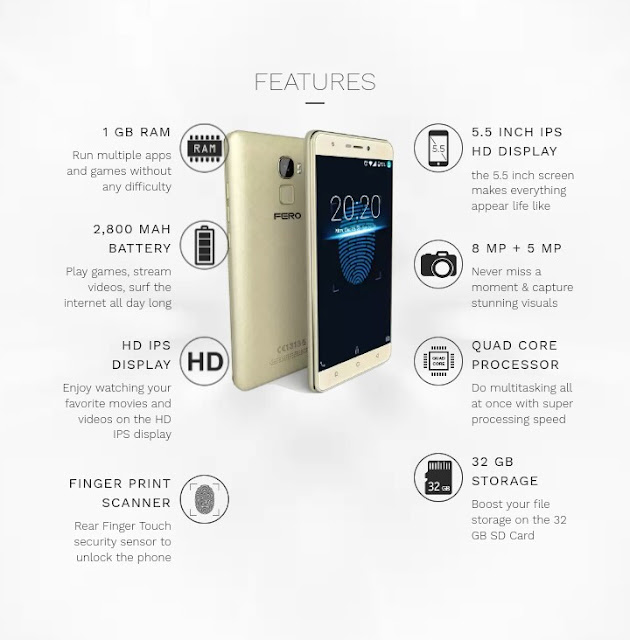 Fero Pace Mobile Full Specifications
