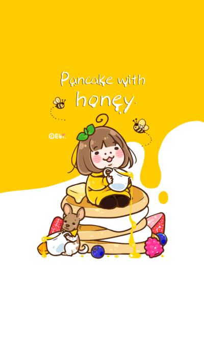Pancake with honey.