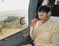 Chandrababu Naidu Conducts Survey of Cyclone Phethai Affected Areas