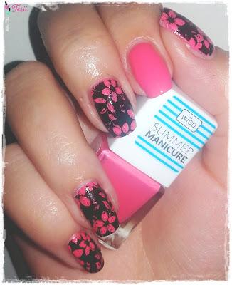 Wibo Summer Manicure 6 i Płytka Blueberry 04