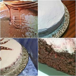 Рецепта за лесна шоколадова торта със сметаново-боровинков крем