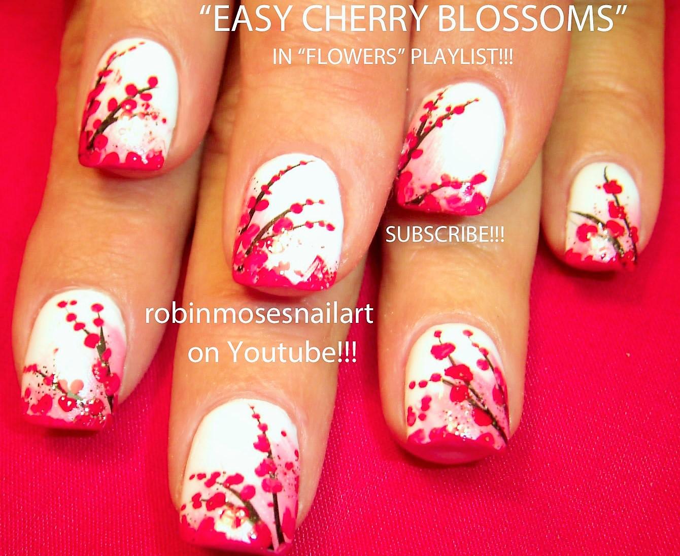 Flower Nail Art Cherry Blossom Nails