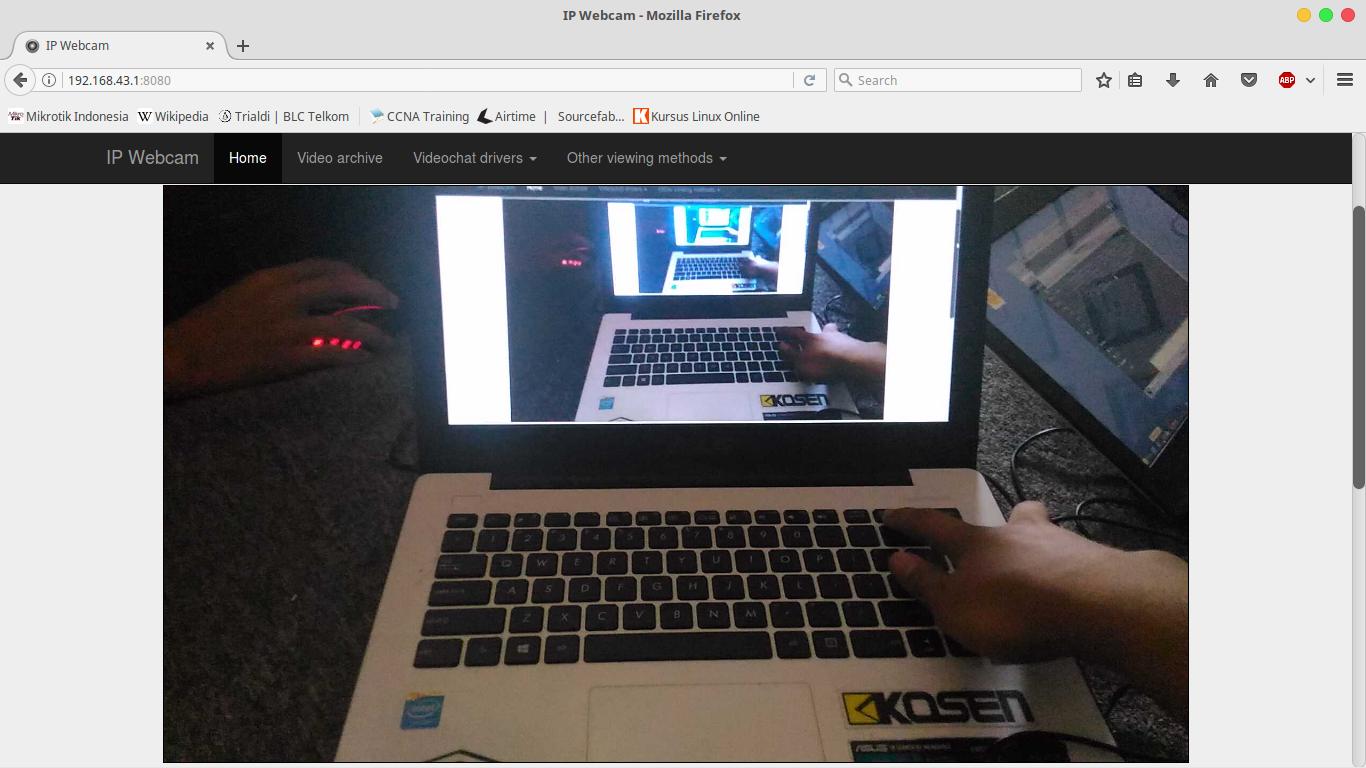 IP Webcam Menggunakan Smartphone Android | Trialdi | BLC Telkom