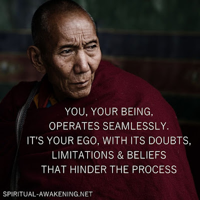 Spiritual quote with monk