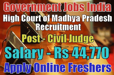 High Court of Madhya Pradesh Recruitment 2018