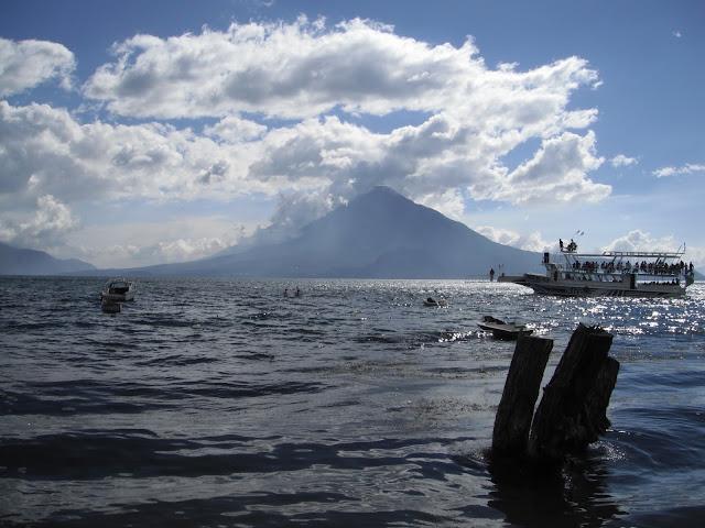 Lake Atitlan Guatemala volcanoes Panajachel Jucanya