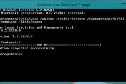 Cara instal NetFrameworks 3.5 Pada Windows 10
