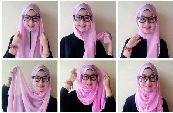 memakai Hijab pashmina