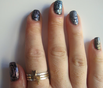 China Glaze Crackle Metals Swatched