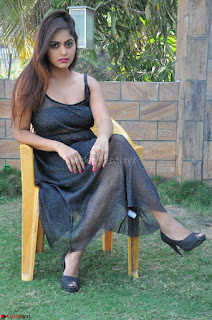Pragya Nayan New Fresh Telugu Actress Stunning Transparent Black Deep neck Dress ~  Exclusive Galleries 037.jpg