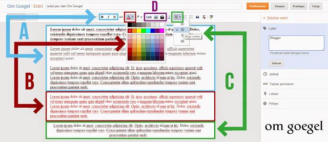 Customize isi postingan dengan Menu Editor