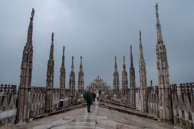 Tejado de El Duomo de Milán
