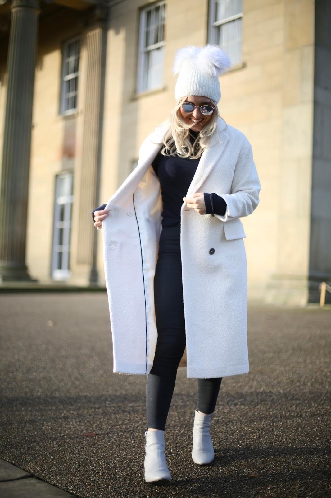 topshop longline coat