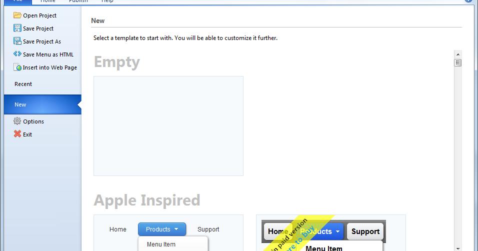 Easy CSS Menu 5.3 - 網頁選單製作軟體 - 阿榮福利味 - 免費軟體下載
