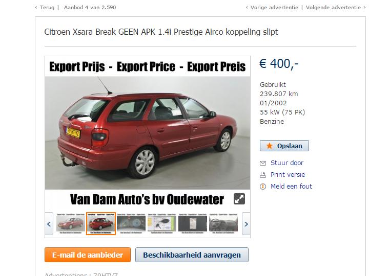 د افضل موقع لشراء السيارات المستعملة في هولندا ابتداء ب400 يورو