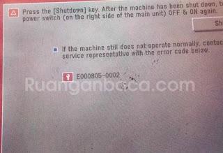 Solusi Mengatasi E805 mesin fotocopy Canon IR