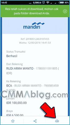 cara transfer dari mandiri ke bca via mobile banking