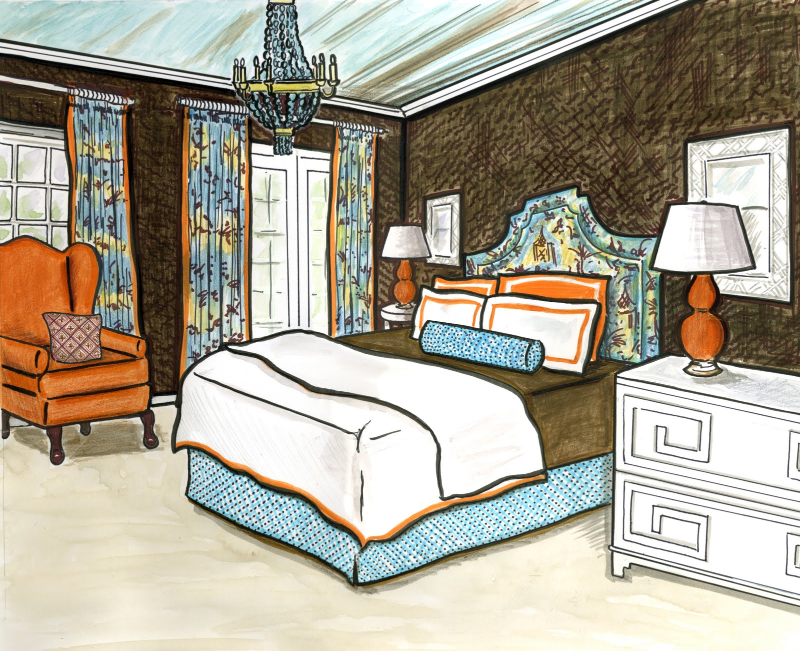 invitations ink social design studio interior design rendering. Black Bedroom Furniture Sets. Home Design Ideas
