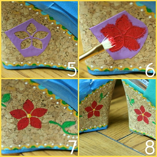 zapatos cuña, customizar, tunear, pintar, manualidades, diys