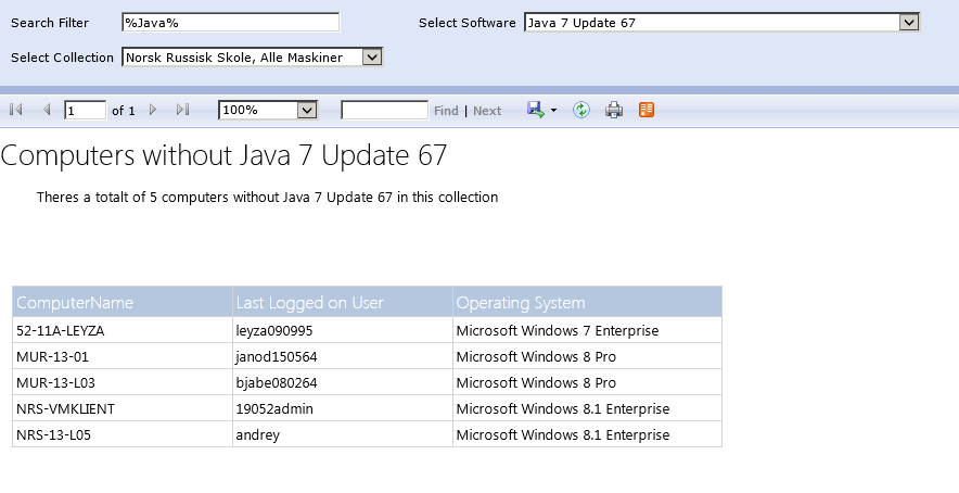Configuration Manager and Custom Reports for Configuration