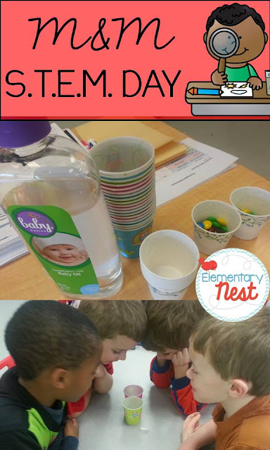 STEM activities- hands on science experiment- M&M soaking STEM activity