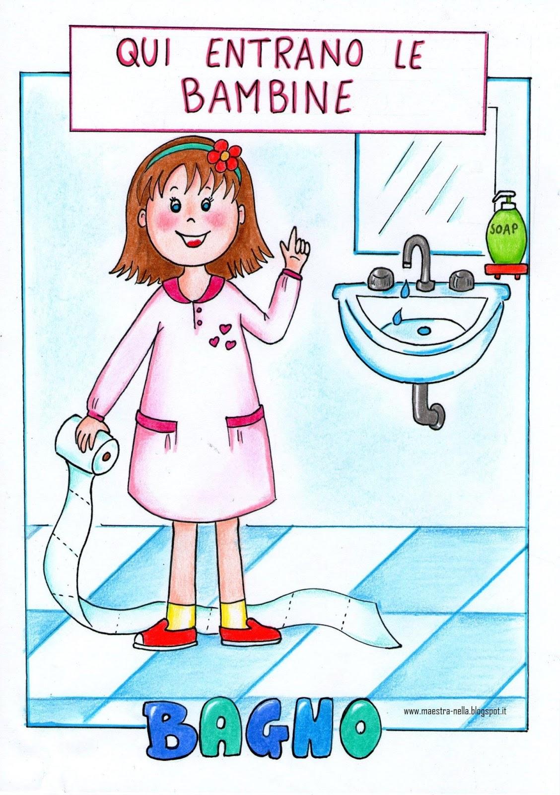 Maestra nella cartelloni per la porta del bagno for Idee per cartelloni scuola infanzia