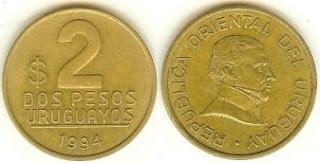 2 Pesos Uruguayos