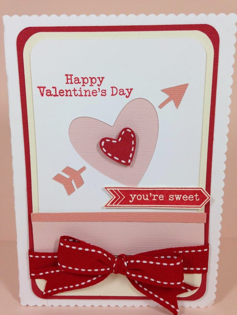 Close To My Heart Artfully Sent Valentine Pop-Up card closeup